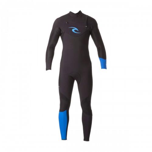 Neopreno de surf Rip Curl E Bomb 4/3mm GB Chest Zip Black Blue