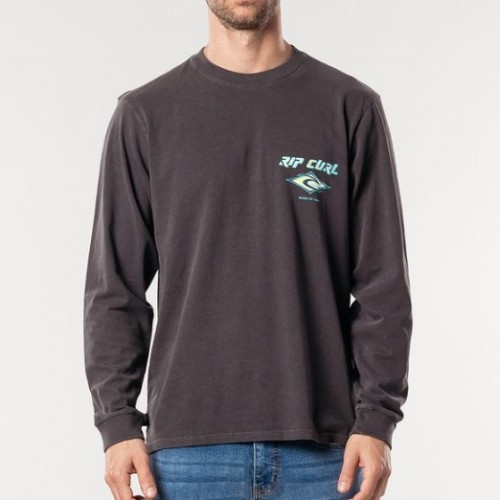 Rip Curl Fadeout LS Tee Washed Black