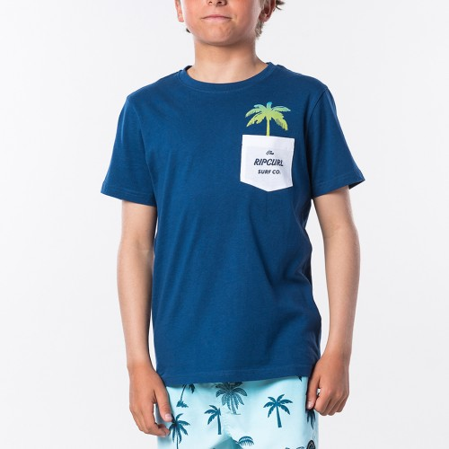 Camiseta Rip Curl Fashion Pocket Tee Boy Indigo Blue