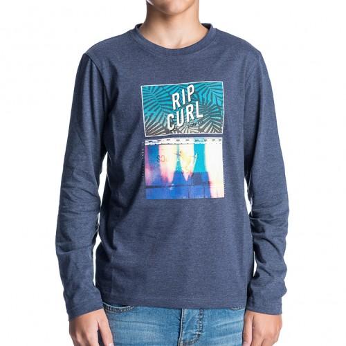 Camiseta Rip Curl Flyingmason Tee Mood Indigo Mar
