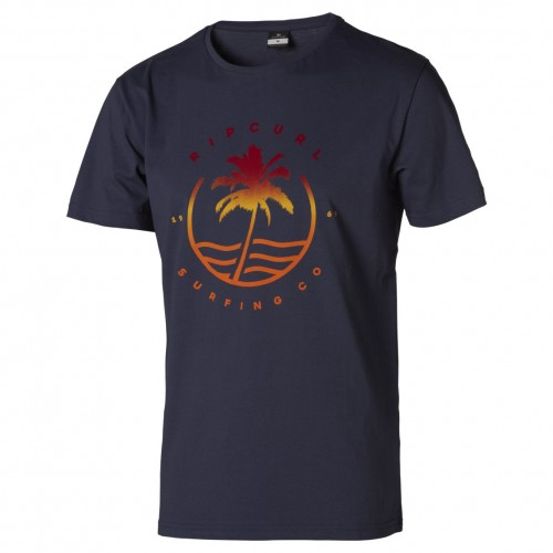 Camiseta Rip Curl Grady Tee Blue Indigo