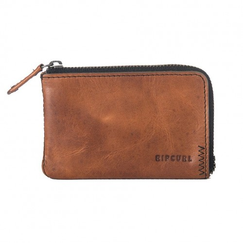Cartera Rip Curl Handcrafted Zip Coin Slim Brown