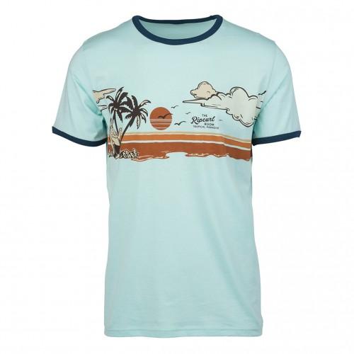 Camiseta Rip Curl Hawaiian Sunset Tee Light Blue