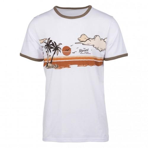 Camiseta Rip Curl Hawaiian Sunset Tee Optical White