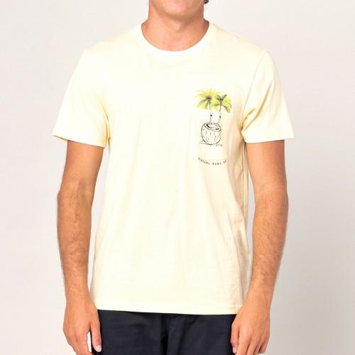 Camiseta Rip Curl In Da Pocket Tee Pale Yellow