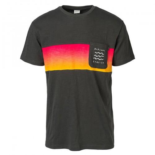 Camiseta Rip Curl Line Up Tee Pirate Black