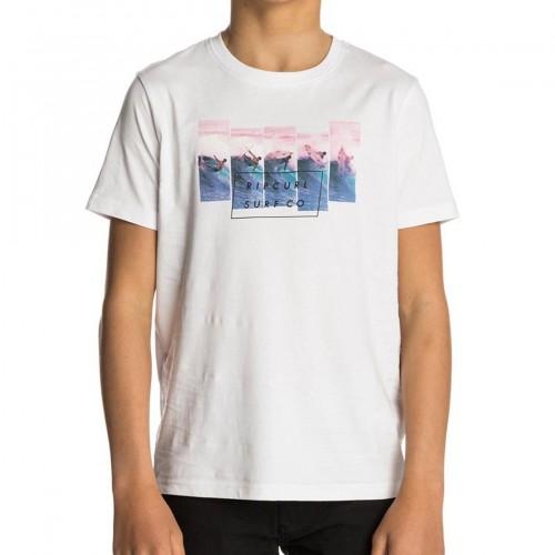 Camiseta Rip Curl On The Lip Tee Optical White