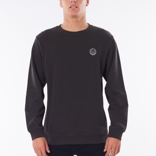 Rip Curl Original Surfers Crew Washed Black