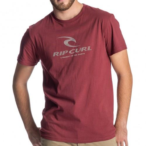 Camiseta Rip Curl Peak Icon Tee Dark Red