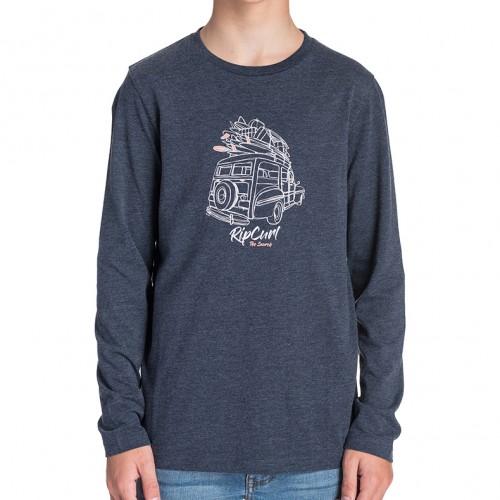 Camiseta Rip Curl Pick Up Boy Tee Mood Indigo Mar