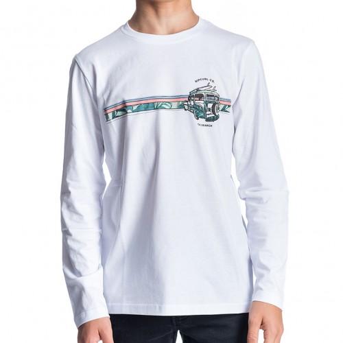 Camiseta Rip Curl Pick Up Boy Tee Optical White