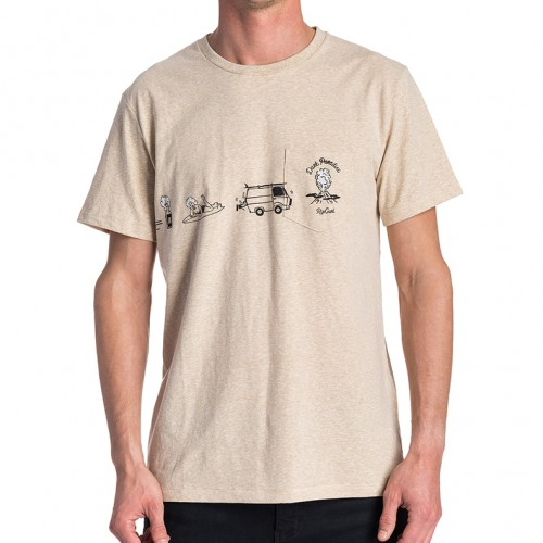Camiseta Rip Curl Pictograms Tee Cement Marle