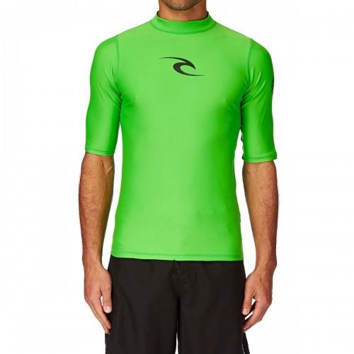 Lycras de surf Rip Curl SS Comp Rash Vest Green