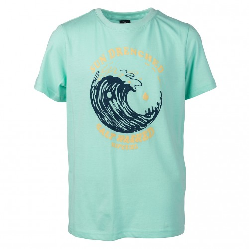 Camiseta Rip Curl Sun Drenched Boy Tee Mint