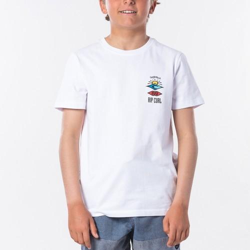 Camiseta Rip Curl The Search Tee Boy Optical White
