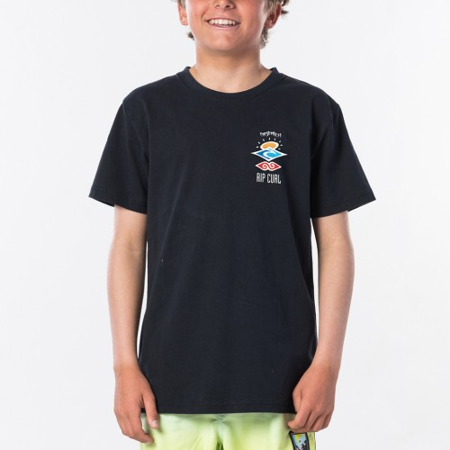 Camiseta Rip Curl The Search Tee Boy Washed Black