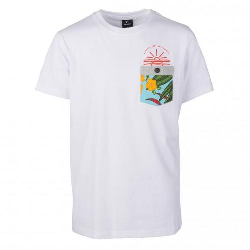 Camiseta Rip Curl Till Busk Boy Tee Optical White