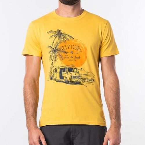 Camiseta Rip Curl Tuc Tuc Tee Washed Yellow