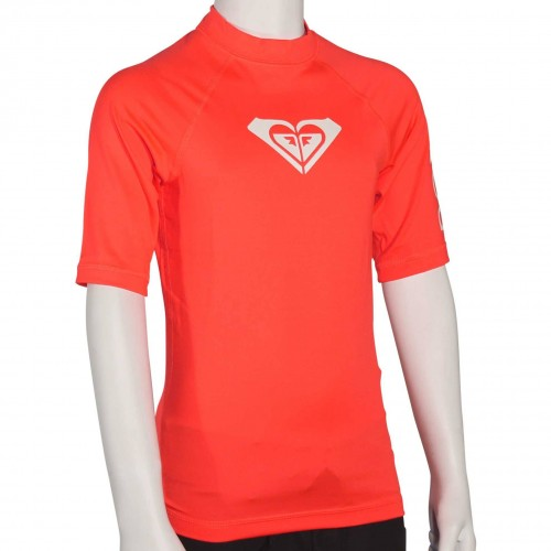Roxy Whole Hearted Rashguard SS Neon Grapefruit