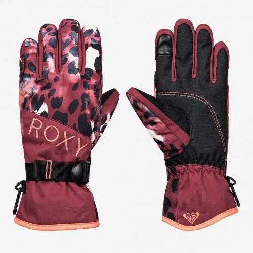 Guantes de snowboard Roxy Jetty Gloves Oxblood Red Leopold
