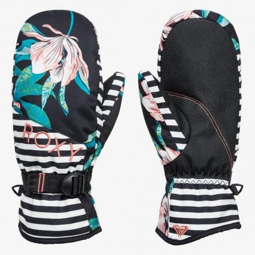 Guantes de snowboard Roxy Jetty Se Mitt True Black Tropical Day