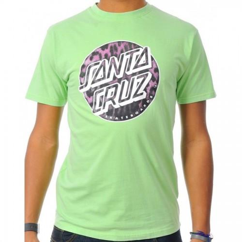 Camiseta Santa Cruz Leopardskin Dot Vintage Lime