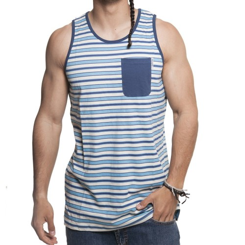 Camiseta Santa Cruz Vest Oceanside Blue Stripe