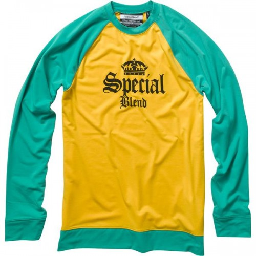 Camiseta Special Blend Dirty Jersey Baselayer Top Hydrate Yellow
