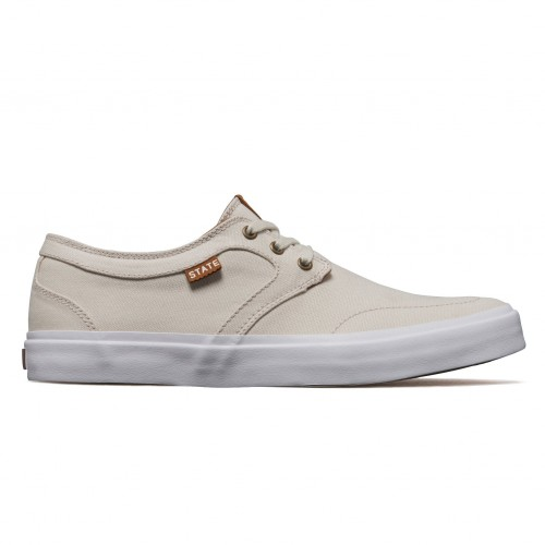 Zapatillas State Bishop Cream/White Canvas