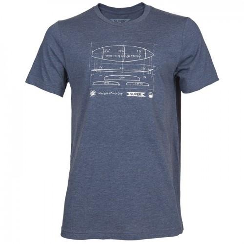 Camiseta Superbrand Dimensions Tee Heather Navy