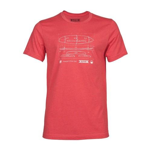 Camiseta Superbrand Dimensions Tee Heather Red