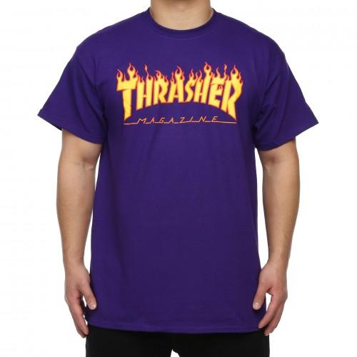Camiseta Thrasher Flame Logo T-Shirt Purple