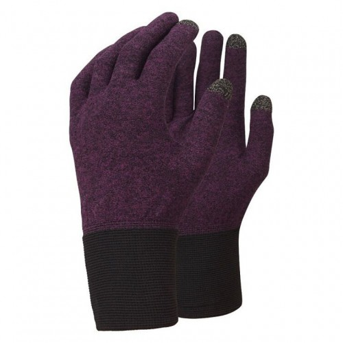 Guantes de snowboard Trekmates Thermal Touch Blackcurrant