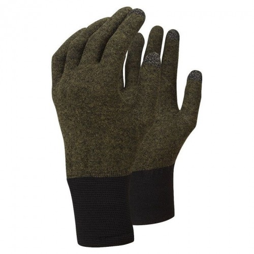 Guantes de snowboard Trekmates Thermal Touch Olive