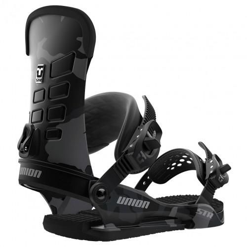 Fijaciones de snowboard Union Binding STR Black Camo 2019