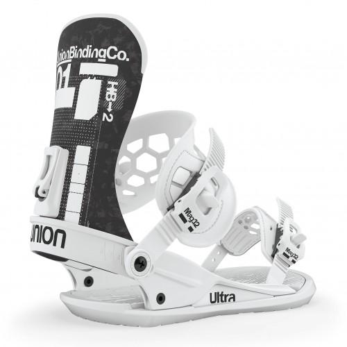 Fijaciones de snowboard Union Binding Ultra White 2020