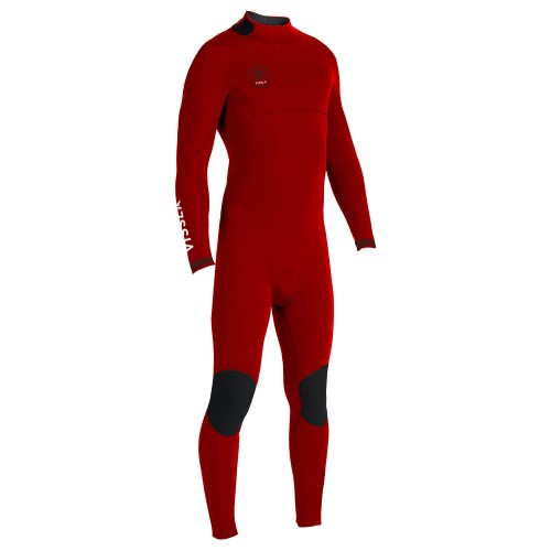 Neopreno de surf Vissla 7 Seas 4/3 Boys BZ Full Suit Red