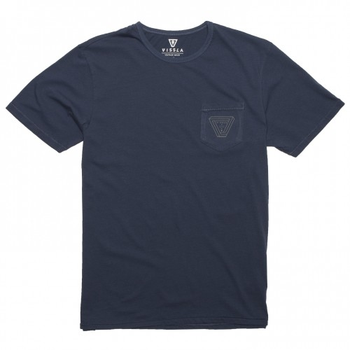 Camiseta Vissla Cyclops Vintage Wash Pocket Tee Dark Denim