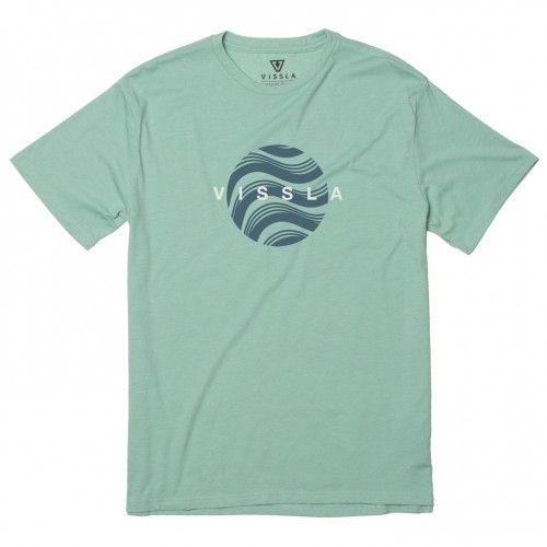 Camiseta Vissla Delic Heather Tee Jade Heather
