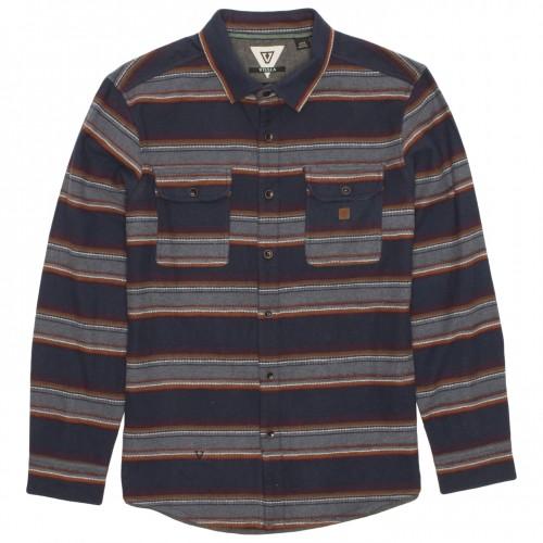 Camisa Vissla Madrugada Flannel Dark Naval