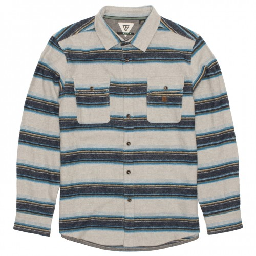 Camisa Vissla Madrugada Flannel Grey Heather