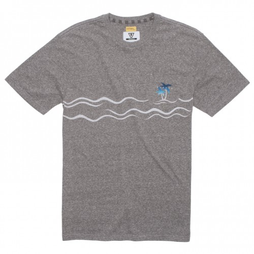 Camiseta Vissla Palmere Knit Tee Grey Heather