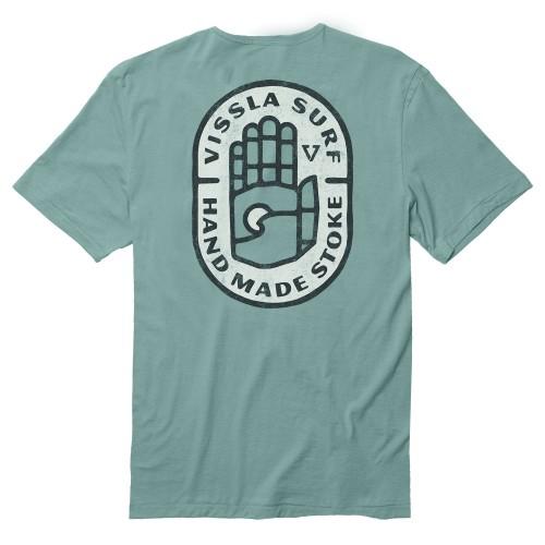 Camiseta Vissla Sacred Palms Vintage Wash Pocket Tee Jade