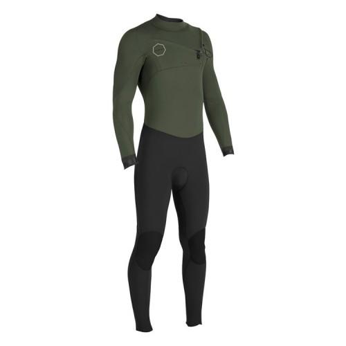 Neopreno de surf Vissla Seven Seas 4/3 50/50 Chest Zip Dark Khaki