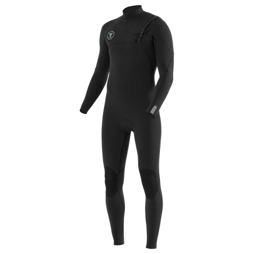 Neopreno de surf Vissla Seven Seas 4/3 Full Suit Chest Zip Black With Jade