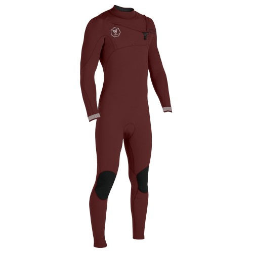 Neopreno de surf Vissla Seven Seas 4/3 Full Suit Chest Zip Wine