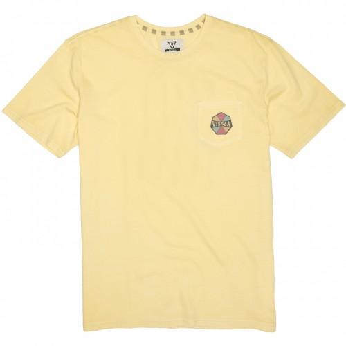 Camiseta Vissla Simons Pigment Dye Tee Dusty Yellow