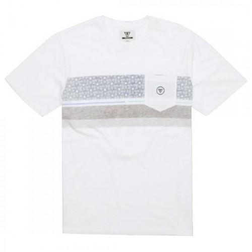 Camiseta Vissla Surfrider Pocket Tee Vintage White