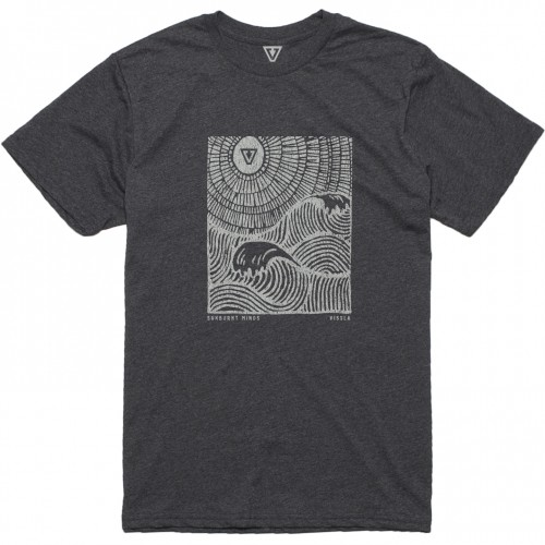 Camiseta Vissla Waves Premium Recover Tee Phantom Heather