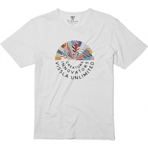 Camiseta Vissla Woodside Rising Vintage Wash Tee White